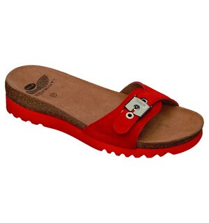 SUARI SUEDE WOMENS RED 40